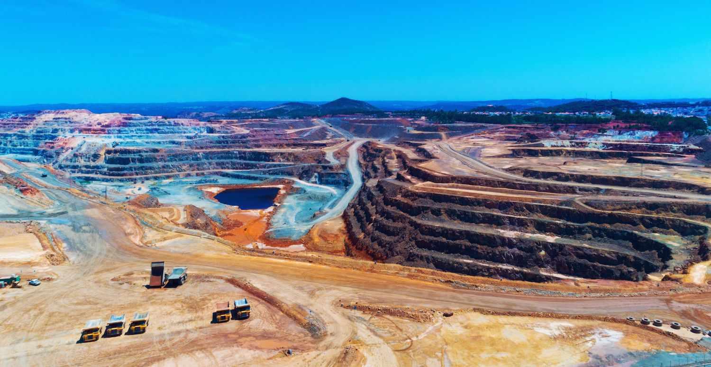 mining Open copper mine pit in Spain.