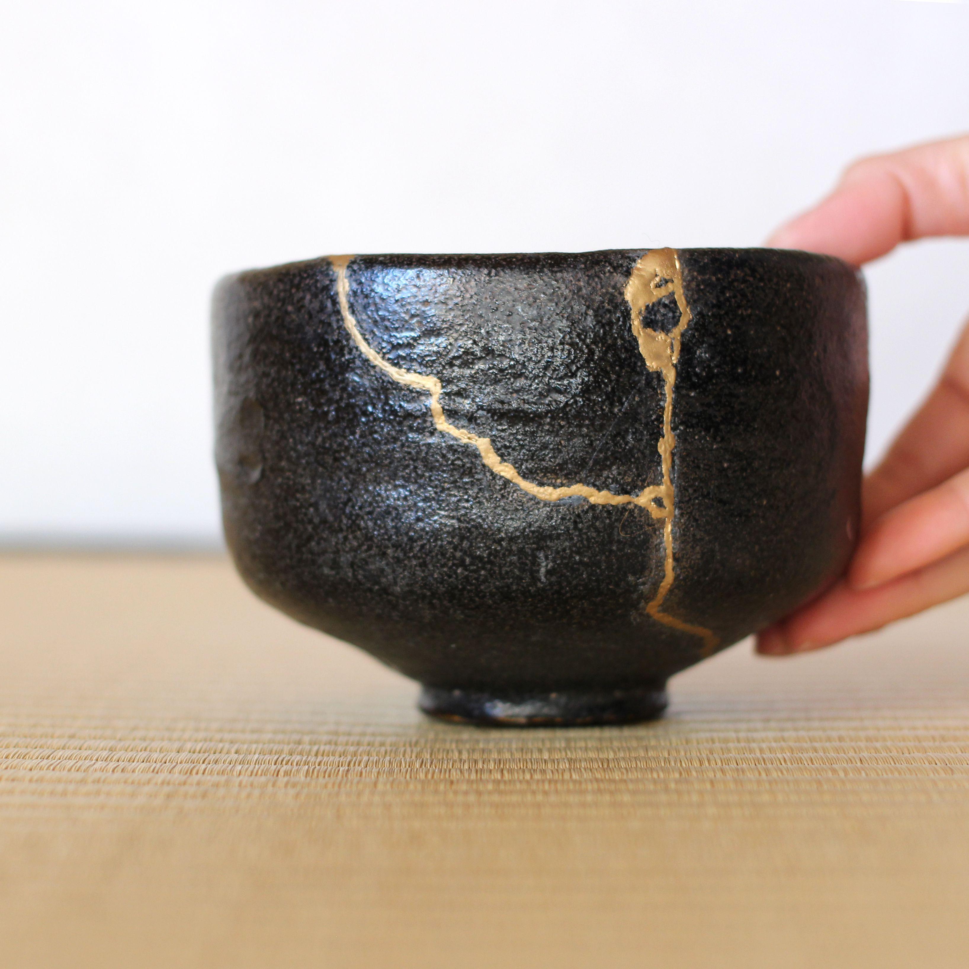 Kintsugi Repaired Dish ~ Wabi-Sabi ~ Ancient Japanese Kintsugi Pottery ~ Catchall ~ Valet Tray