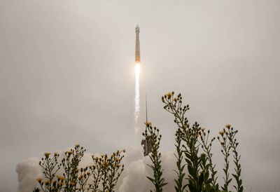 The United Launch Alliance (ULA) Atlas V rocket with the Landsat 9 satellite onboard launches, Monday, Sept. 27, 2021, from Space Launch Complex 3 at Vandenberg Space Force Base in California. The Landsat 9 satellite is a joint NASA/U.S. Geological Survey mission that will continue the legacy of monitoring Earth's land and coastal regions.