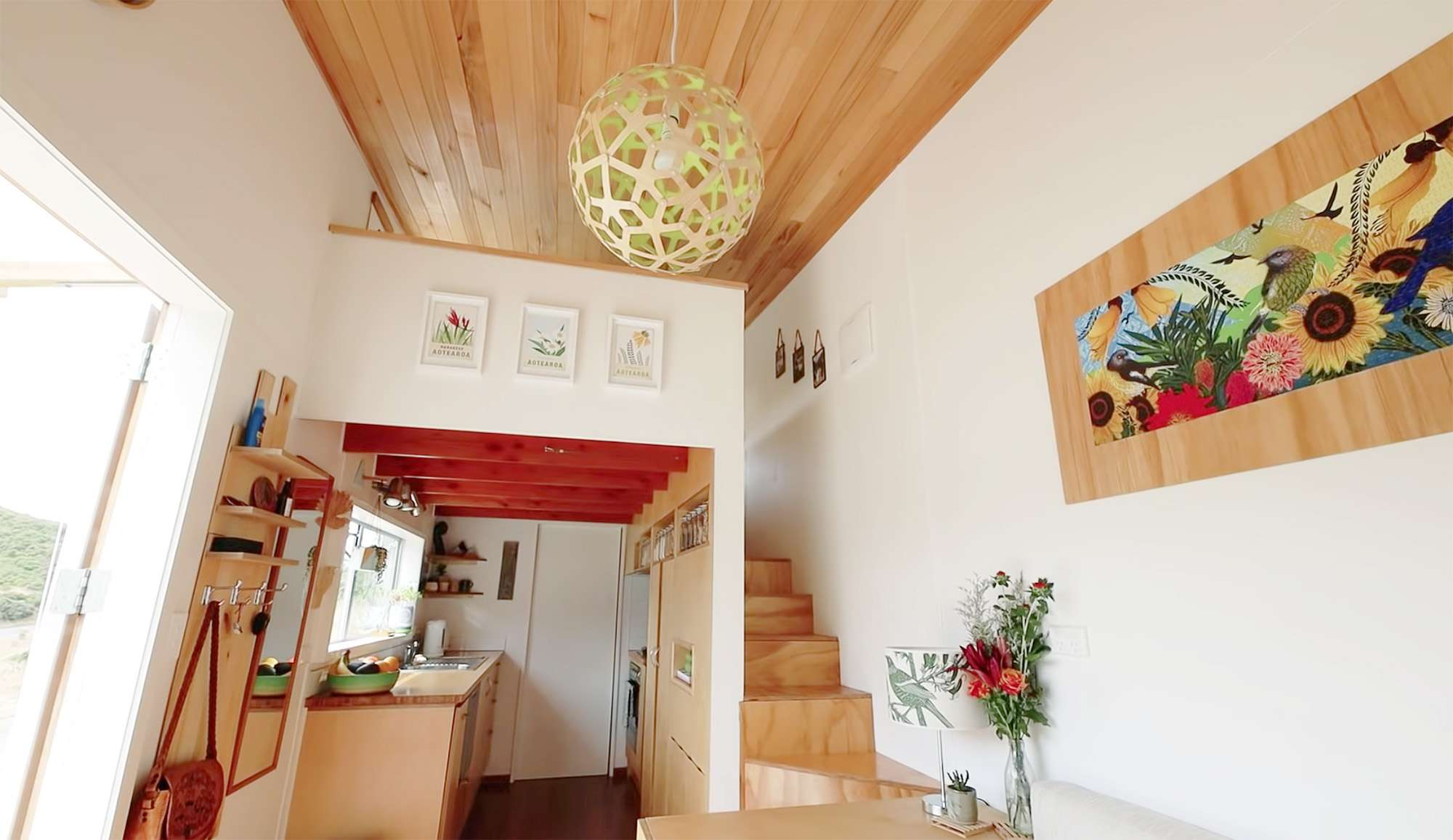 tiny house with movie loft Living Big In A Tiny House ceiling