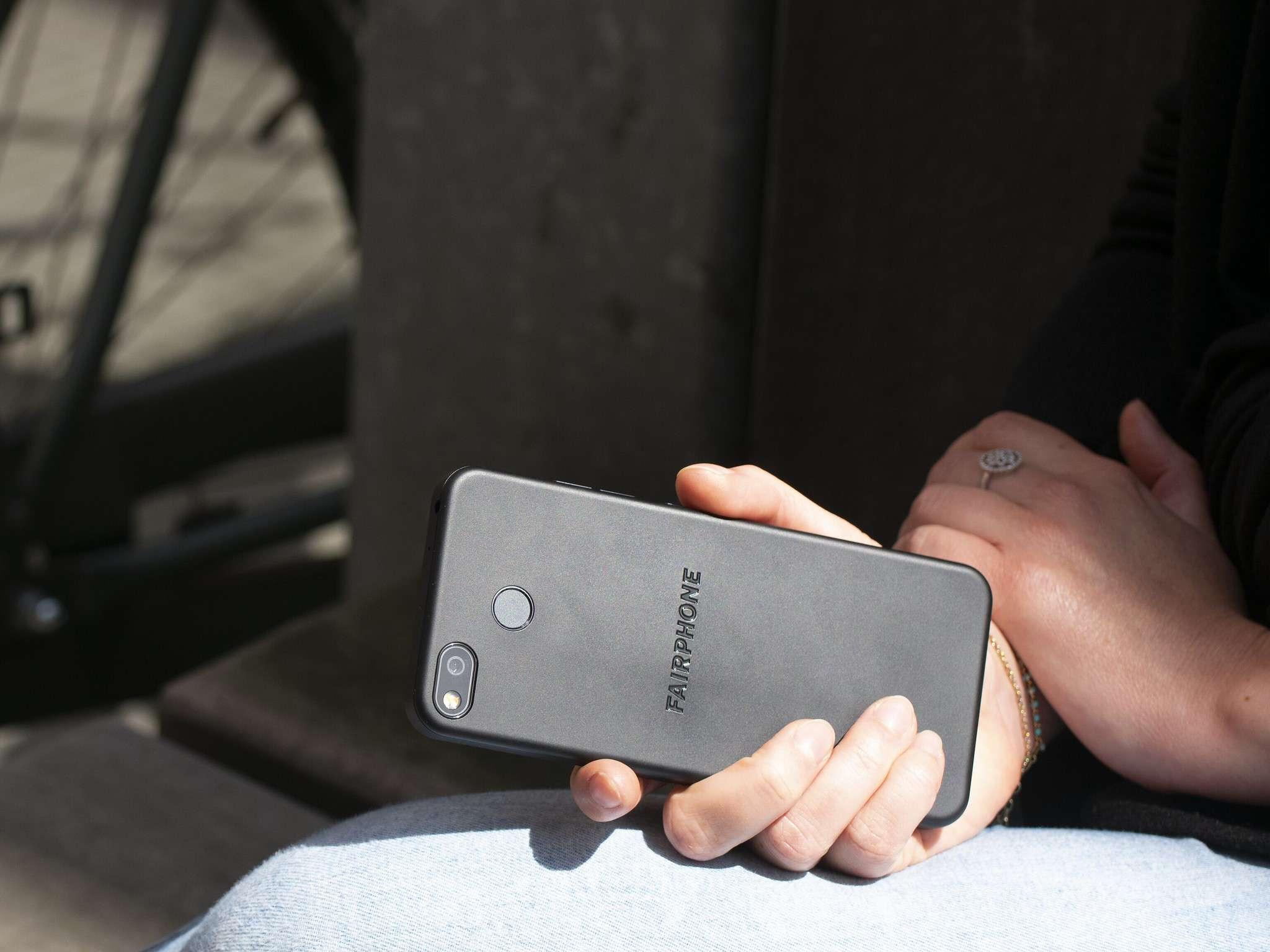 Fairphone in hand