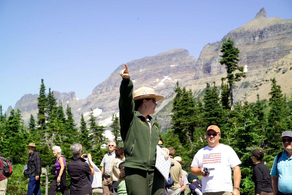 Glacier National Park ranger