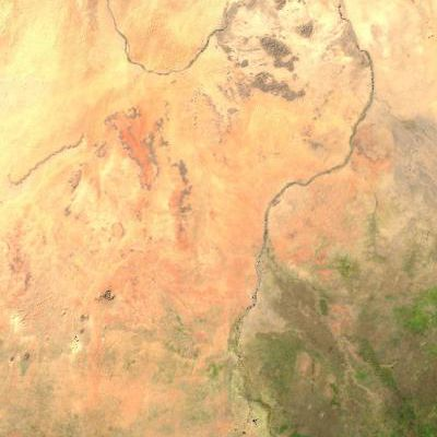 White Nile composite satellite map
