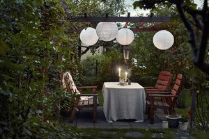 beautiful patio in the backyard