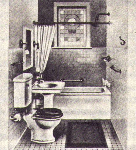 american bathroom 1915 image