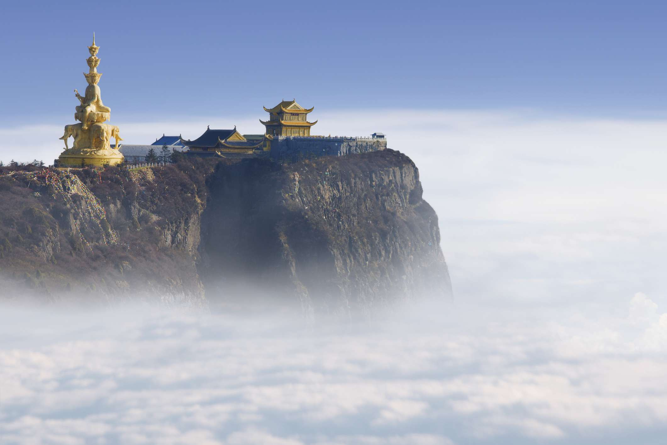 Mount Emei in the Sichuan Province of China