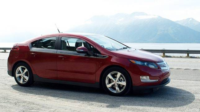 A Chevy Volt photographed in Alaska, perhaps the worst state for EV range, at least in the winter.