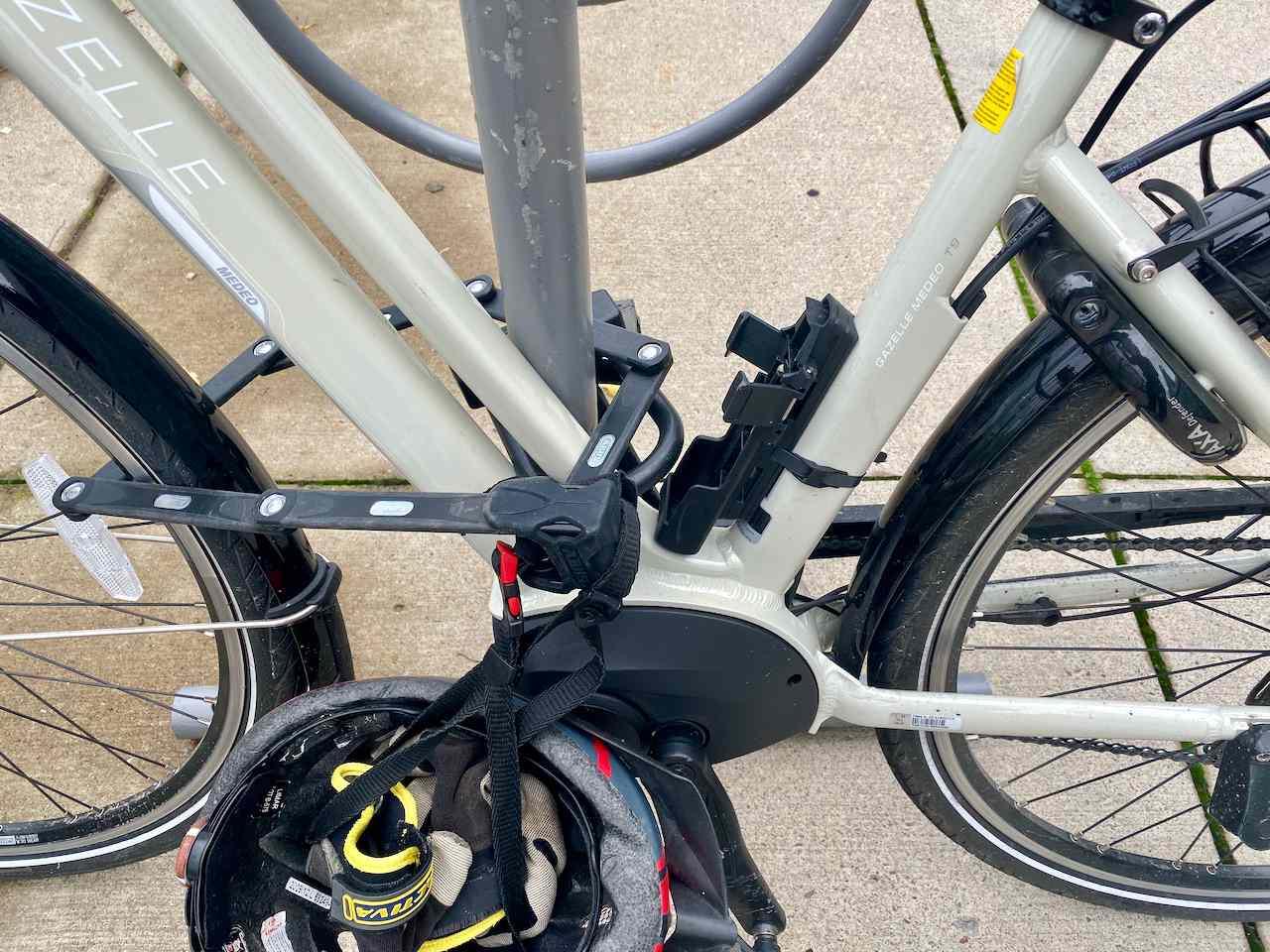 Three locks on my bike