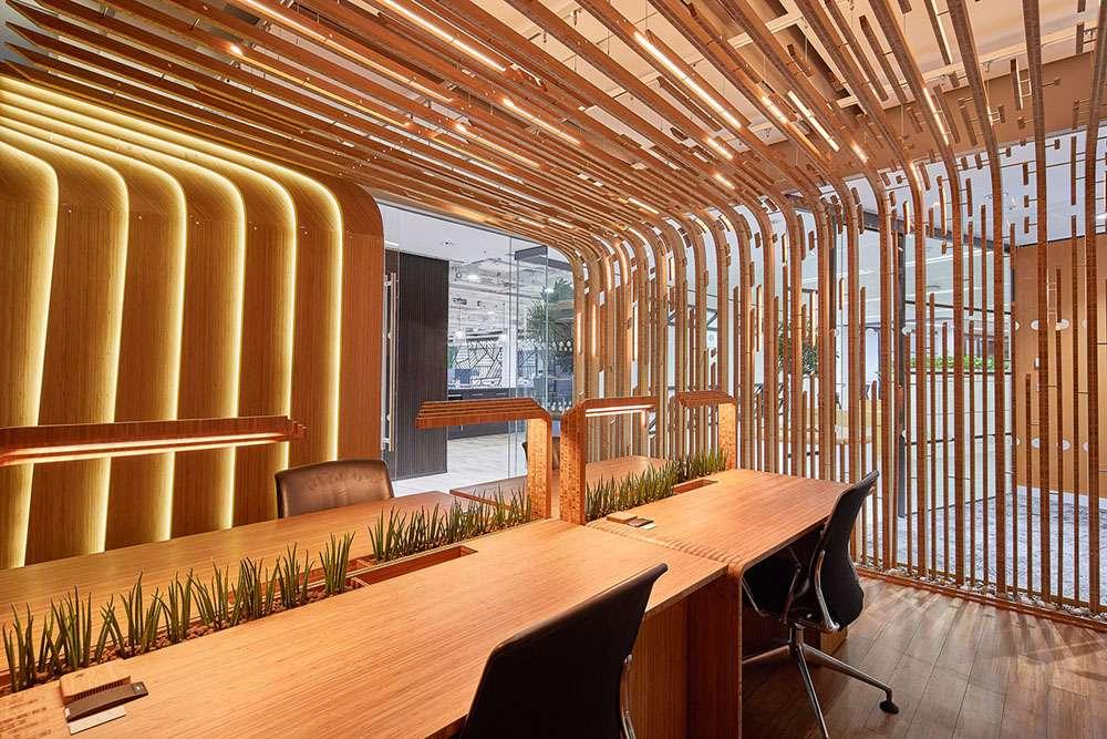 Open office workspaces