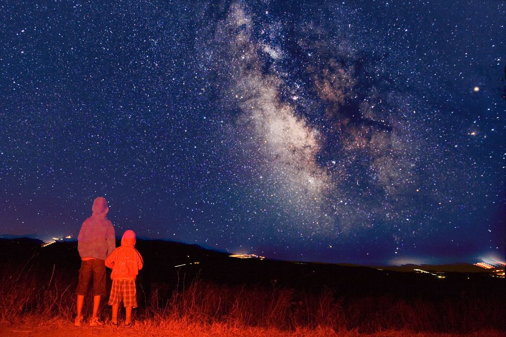 Young Observers Looking at the Milky Way
