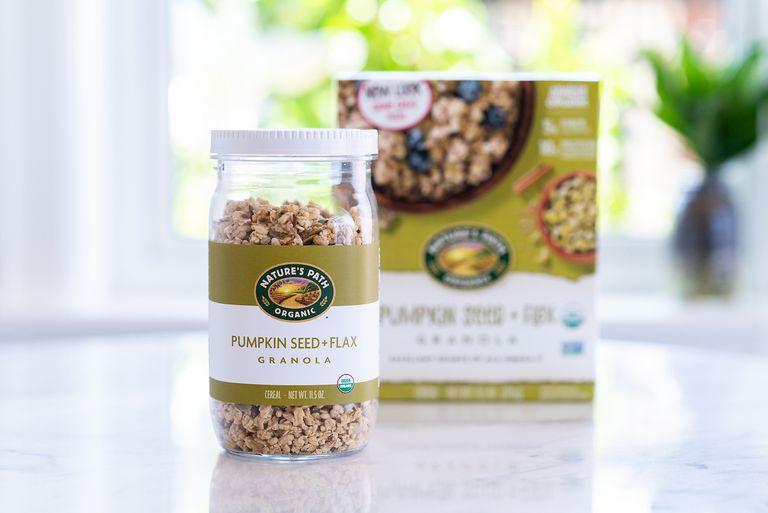 Nature's Path granola in mason jar