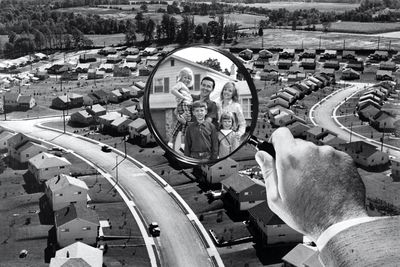 A magnifying glass on the suburbs