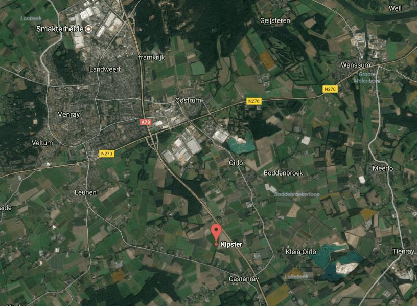 Map screenshot of Venray municipality in Limburg, the Netherlands