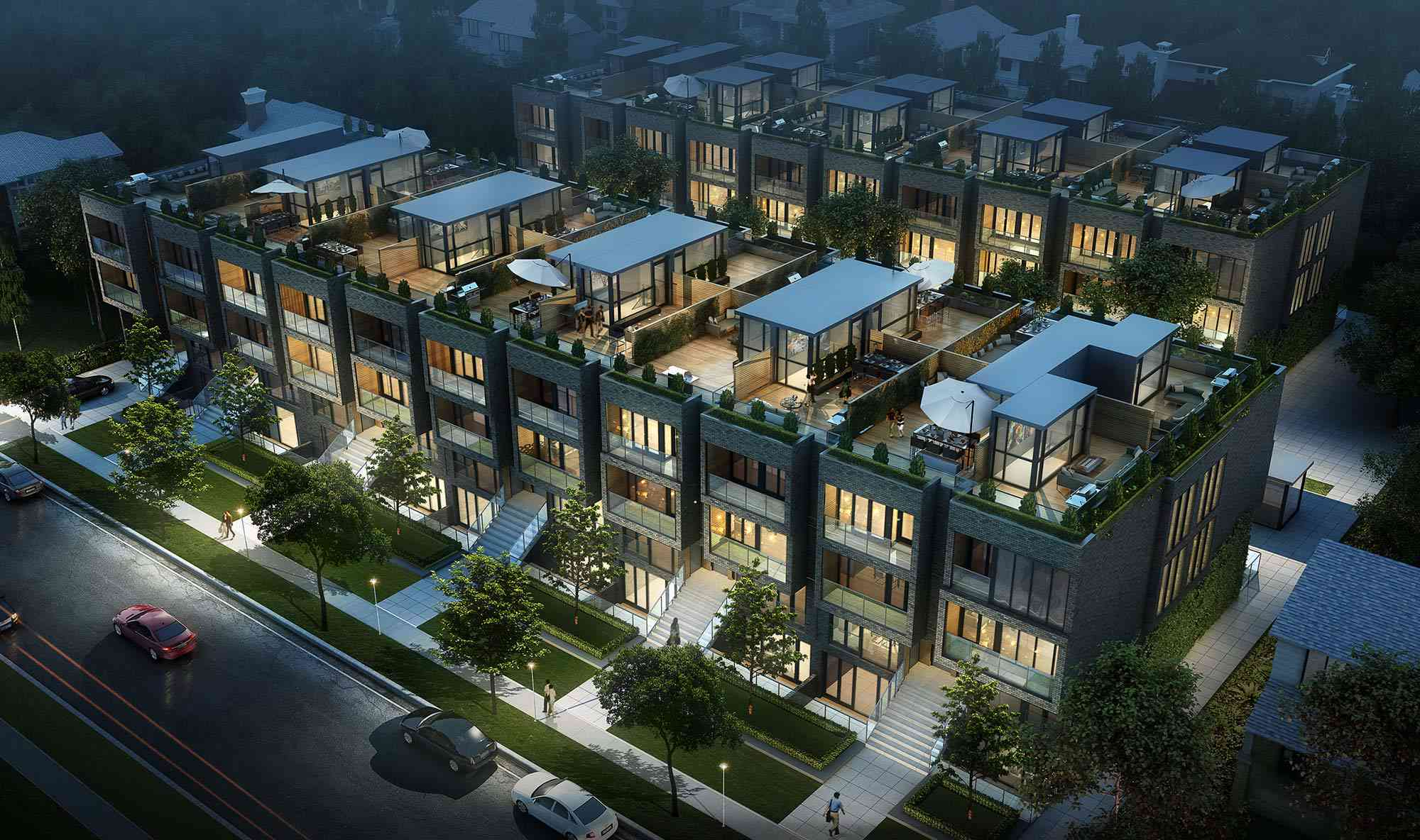 sherwood park housing from above