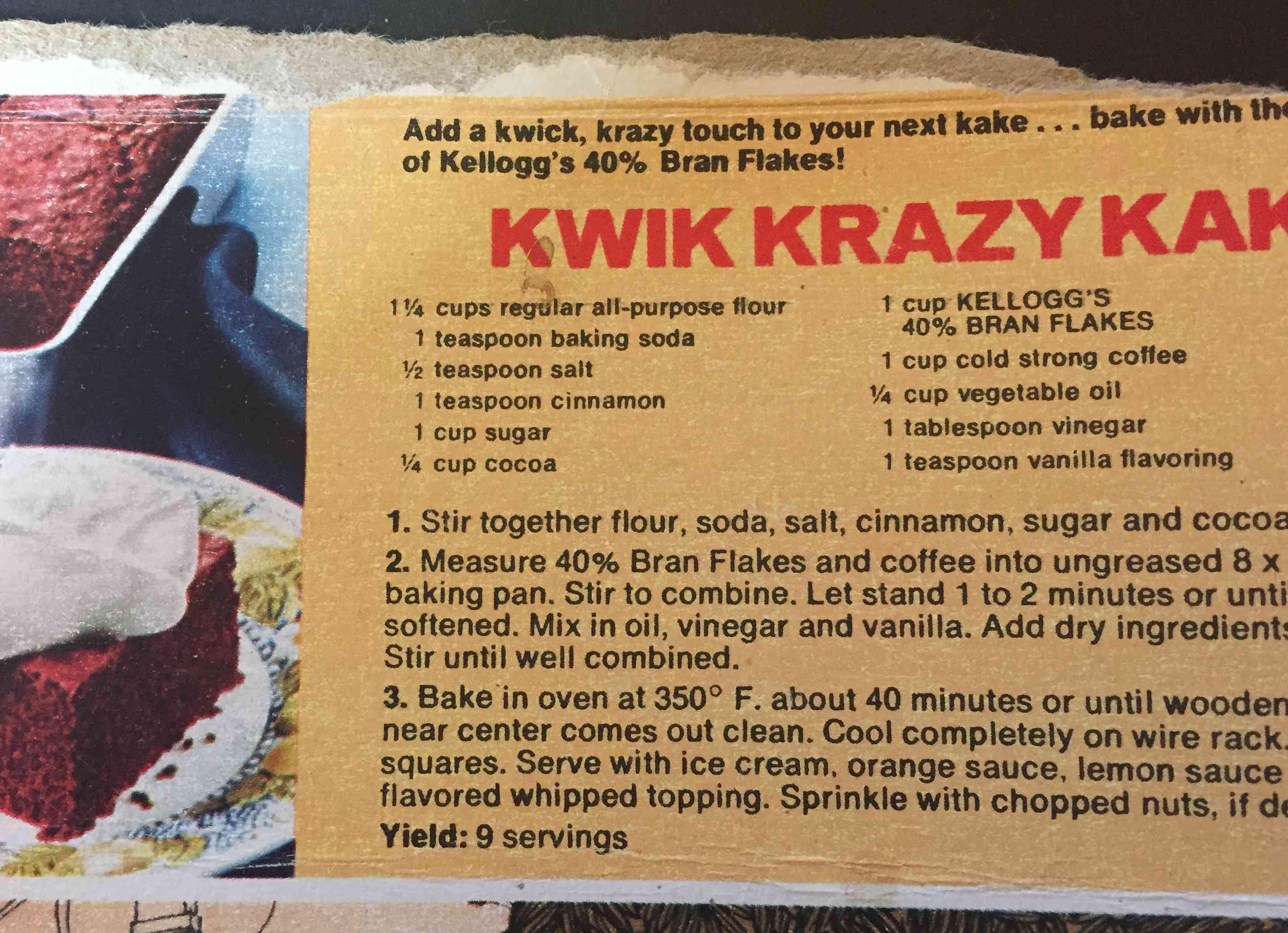 Kwik Krazy Kake
