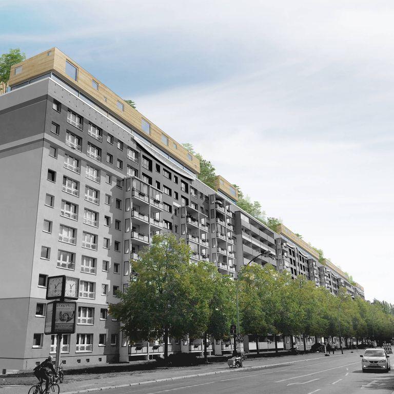 Casas modulares de madera en la azotea propuestas para Berlín