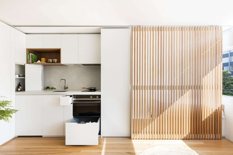 boneca micro-apartment brad swartz architect kitchen