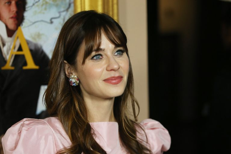 """Zooey Deschanel attends the Los Angeles premiere of Focus Features' """"Emma."""" held at DGA Theater on February 18, 2020 in Los Angeles, California."""