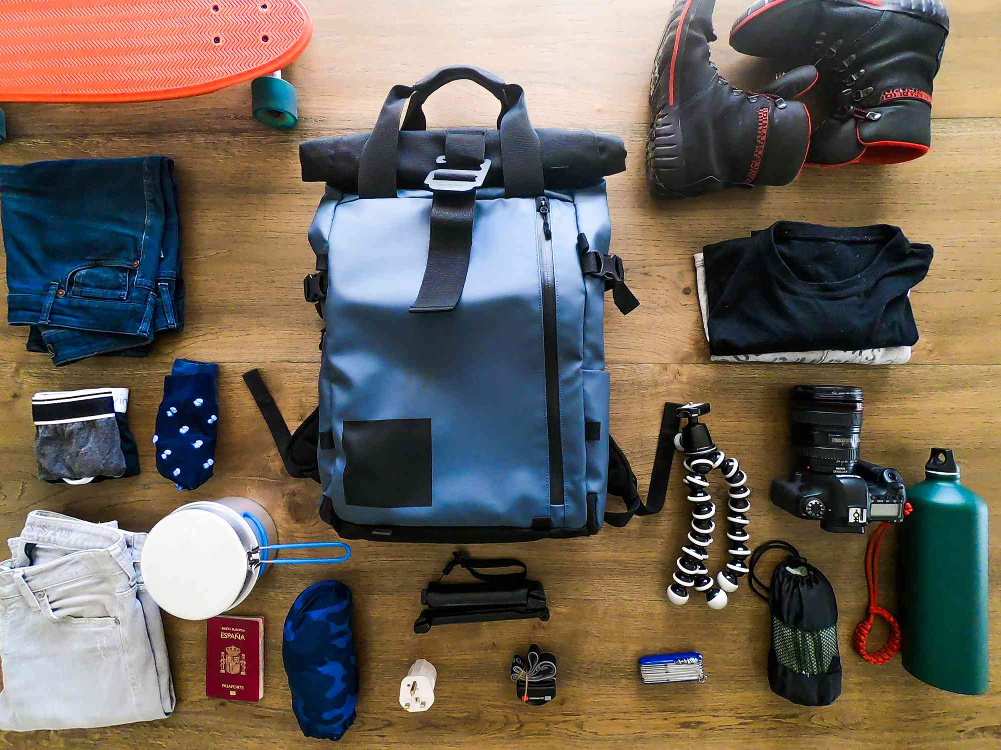Prepared with hiking gear