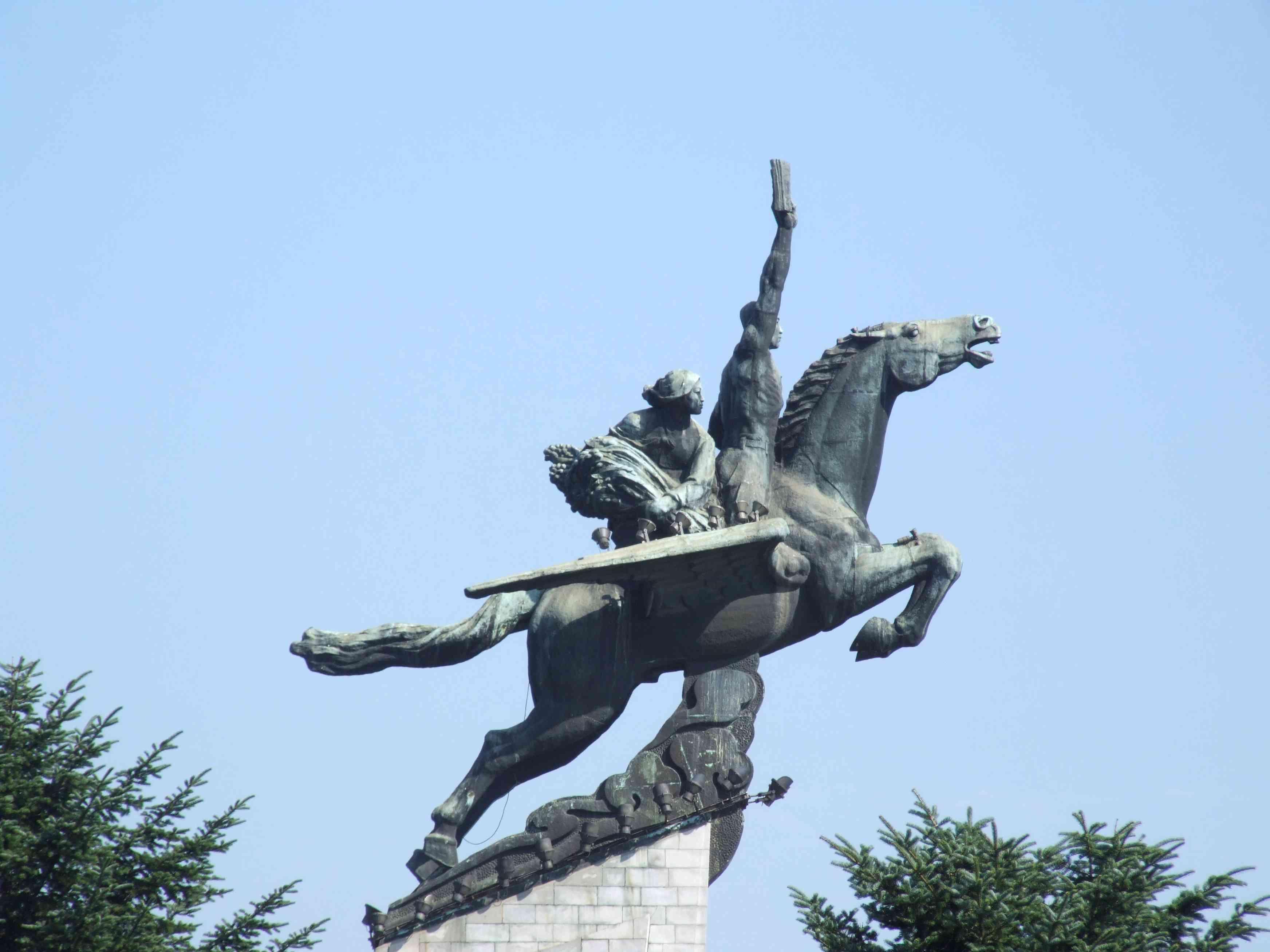 Chollima statue in North Korea