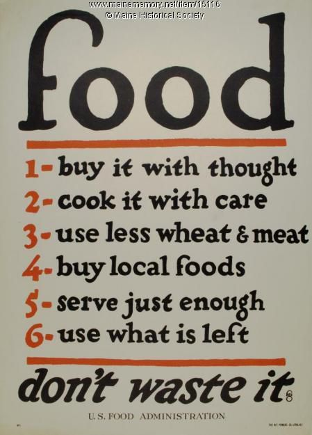 "Sign showing the ""rules"" of food"