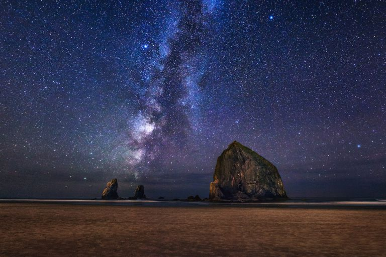 Who needs fireworks when you can see the Milky Way above Cannon Beach, Oregon?