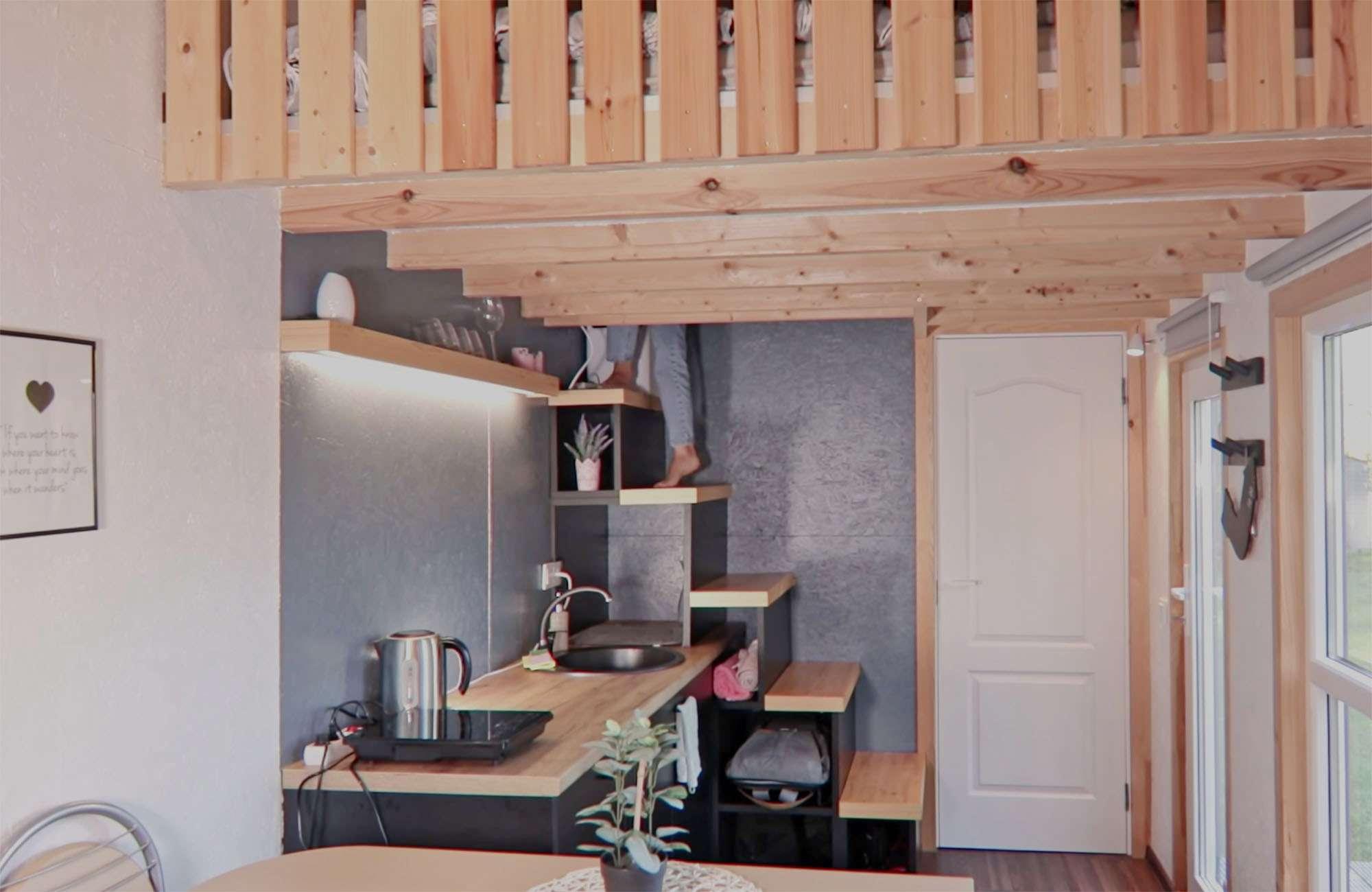 tiny village latvia stair