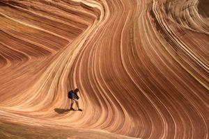 Hiking at The Wave in Arizona