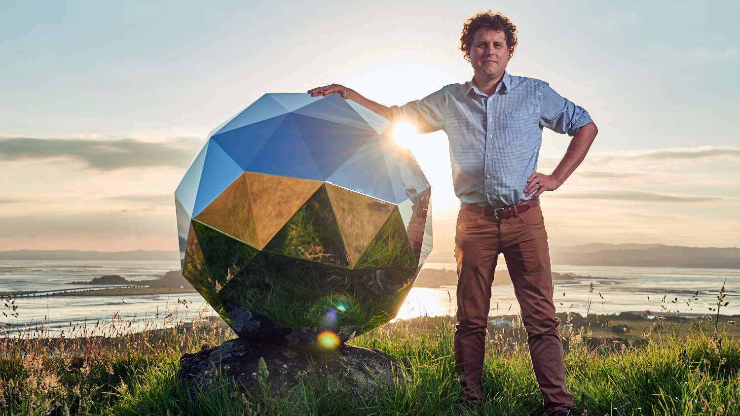 Rocket Lab CEO Peter Beck and his 'Humanity Star.'