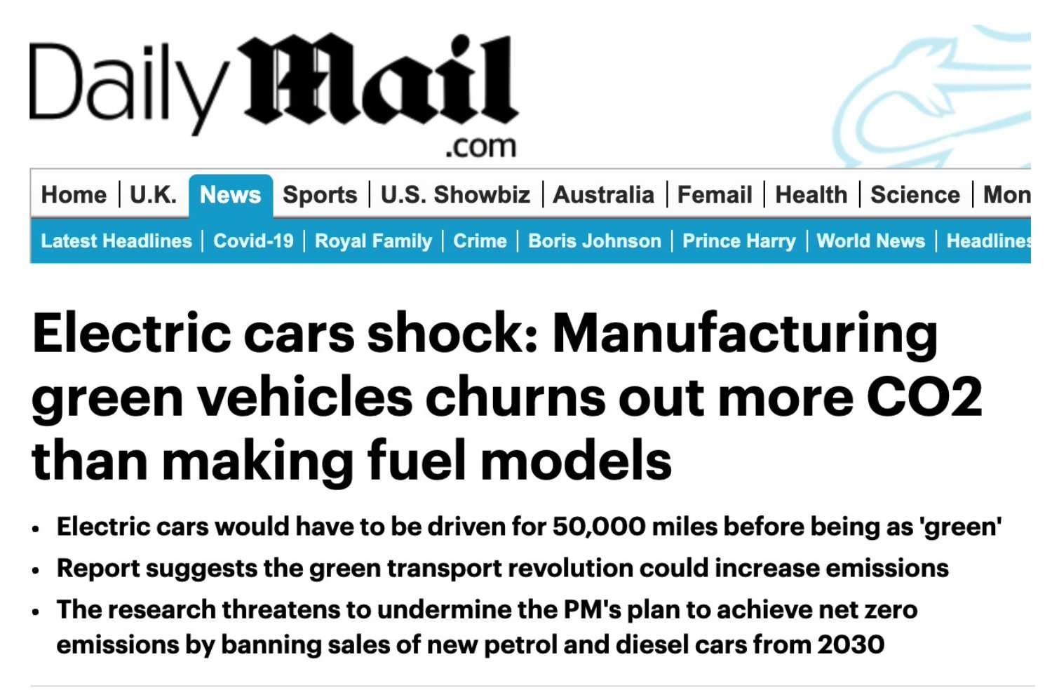 Daily mail electric shock