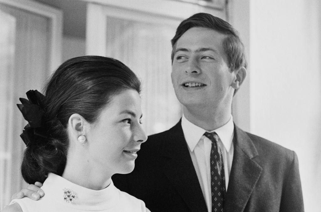 Hans-Adam II, Prince of Liechtenstein, with his wife Marie