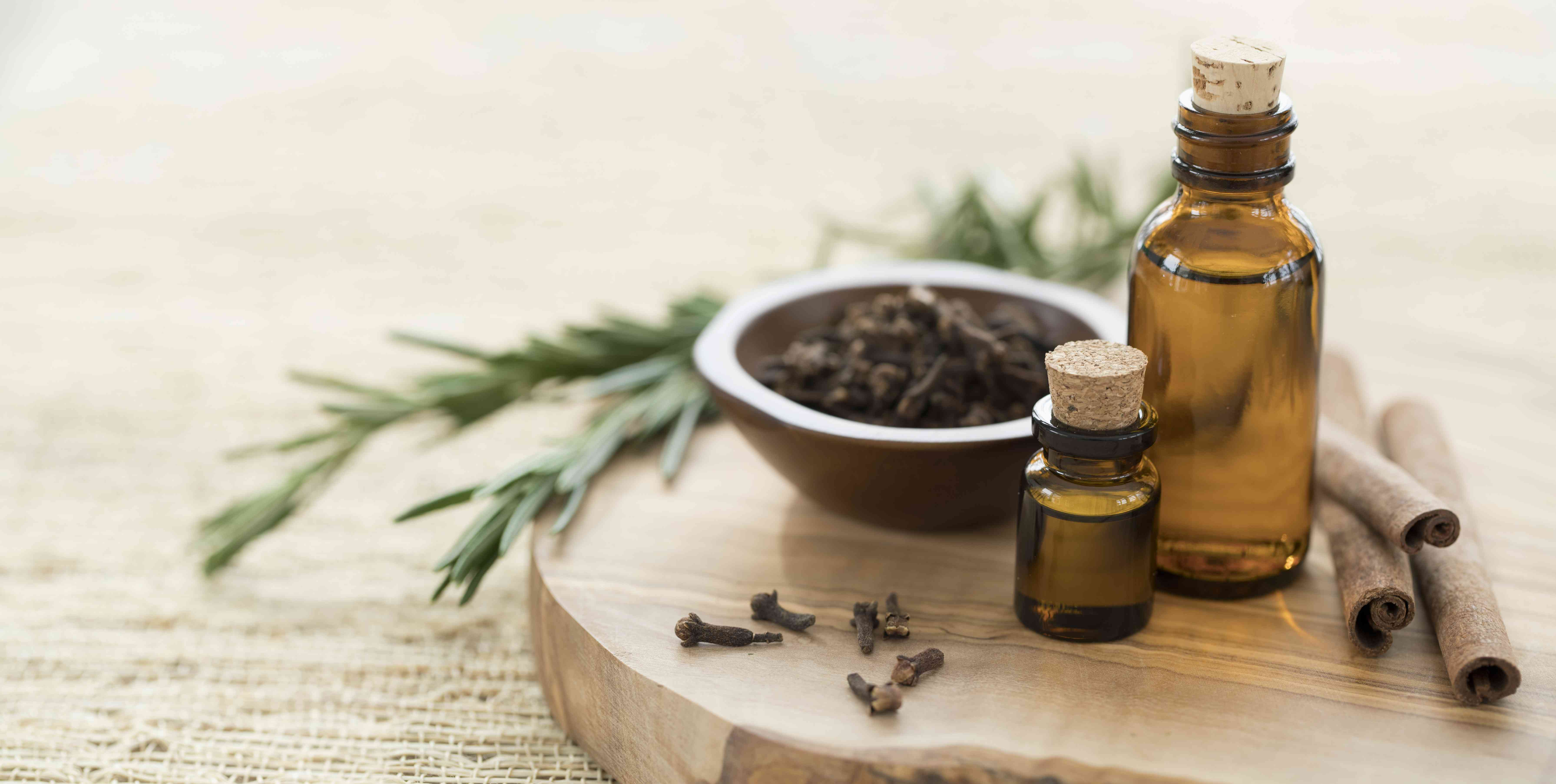 Essential Oils with Rosemary, Cloves & Cinnamon.