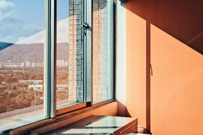 Sun shining through an apartment window