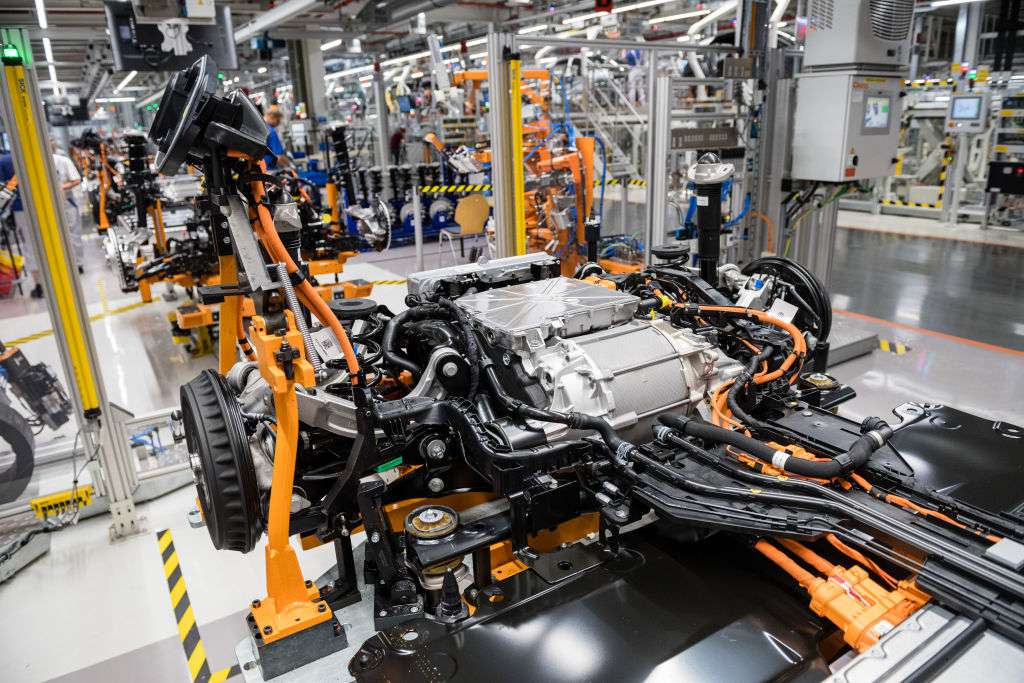 Electric Car Production At a Volkswagen Factory in Zwickau