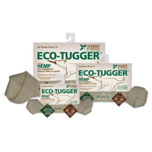 eco-tugger dog toys in various sizes on white background