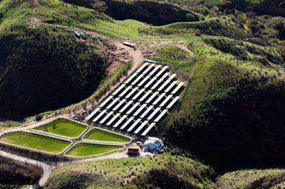 A solar farm in Simi Valley, California