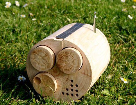 wood radio front photo