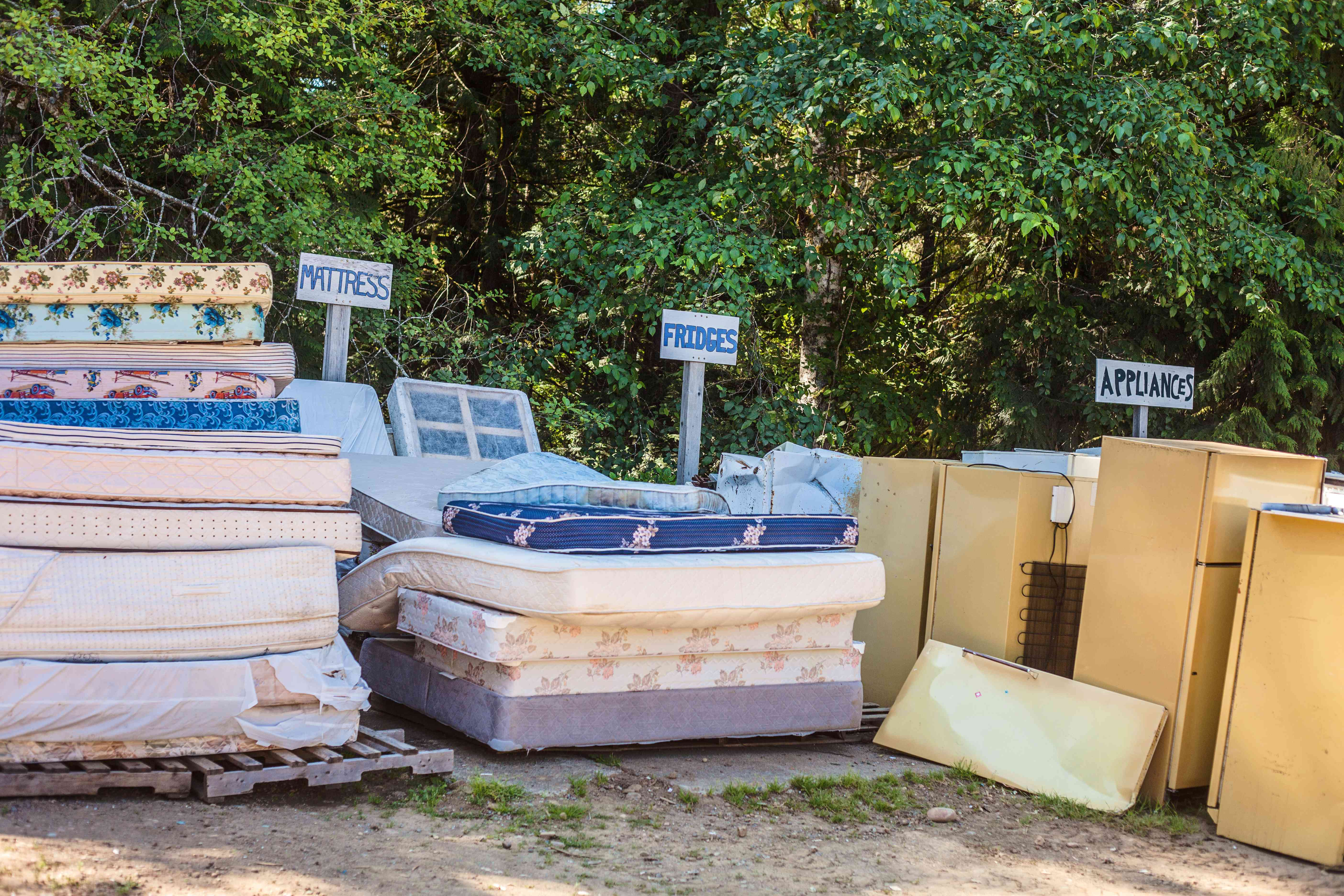 Old Mattresses and Appliances