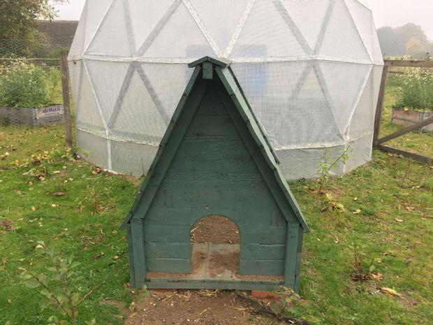 geodesic dome chicken coop Mikkelsen
