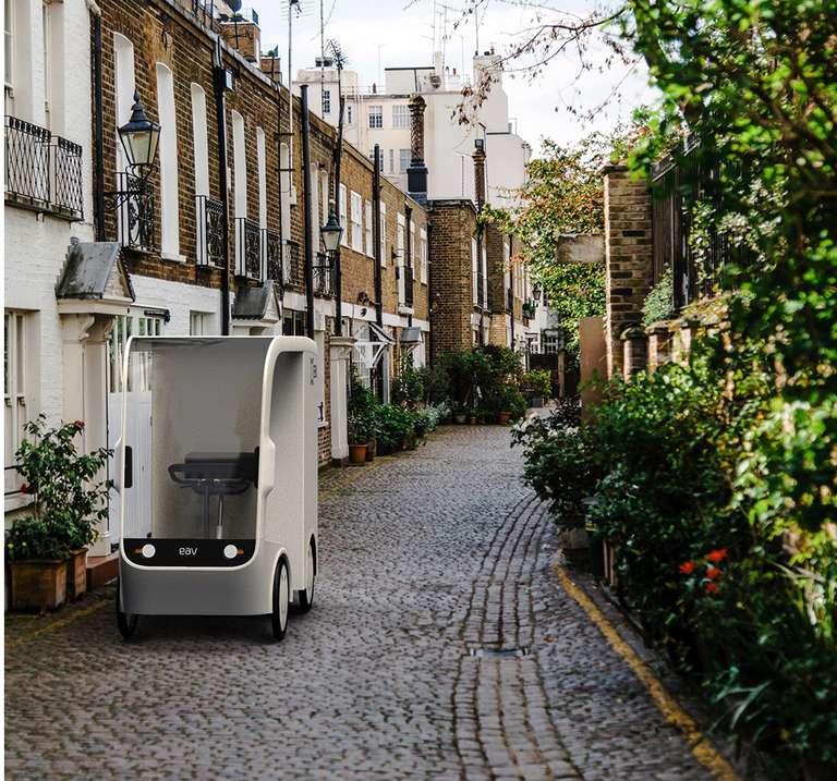 La bicicleta E-Cargo de EAV podría reemplazar las furgonetas para las entregas