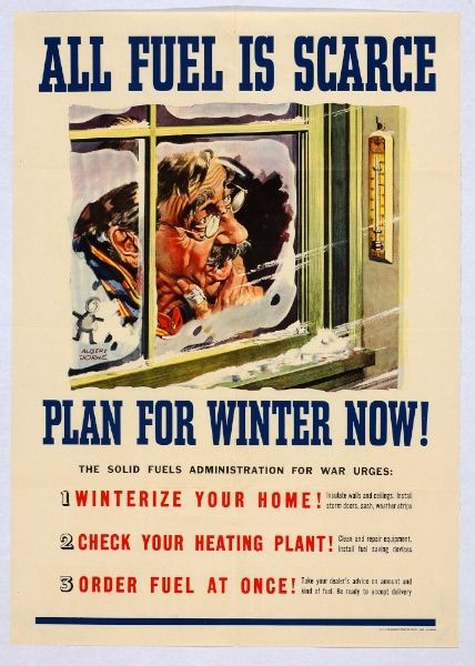 Poster warning of preparing for winter