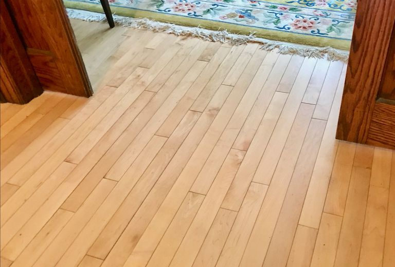 Pale wood floors in a house