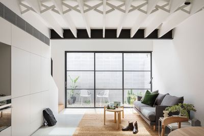 loft house x 2 brad swartz architect living room