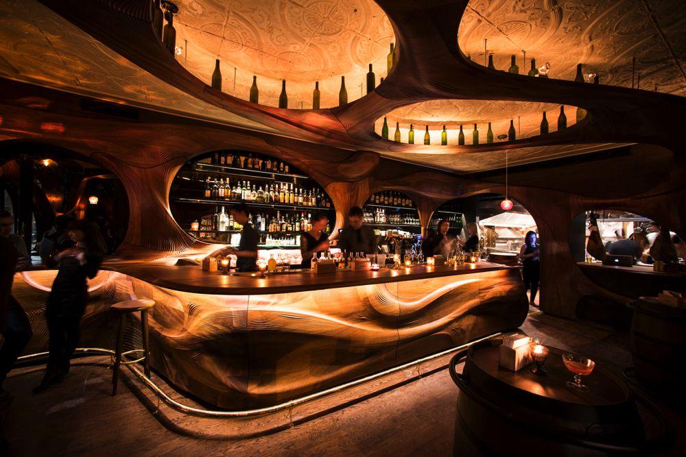 Bar-Raval Mahogany Bar