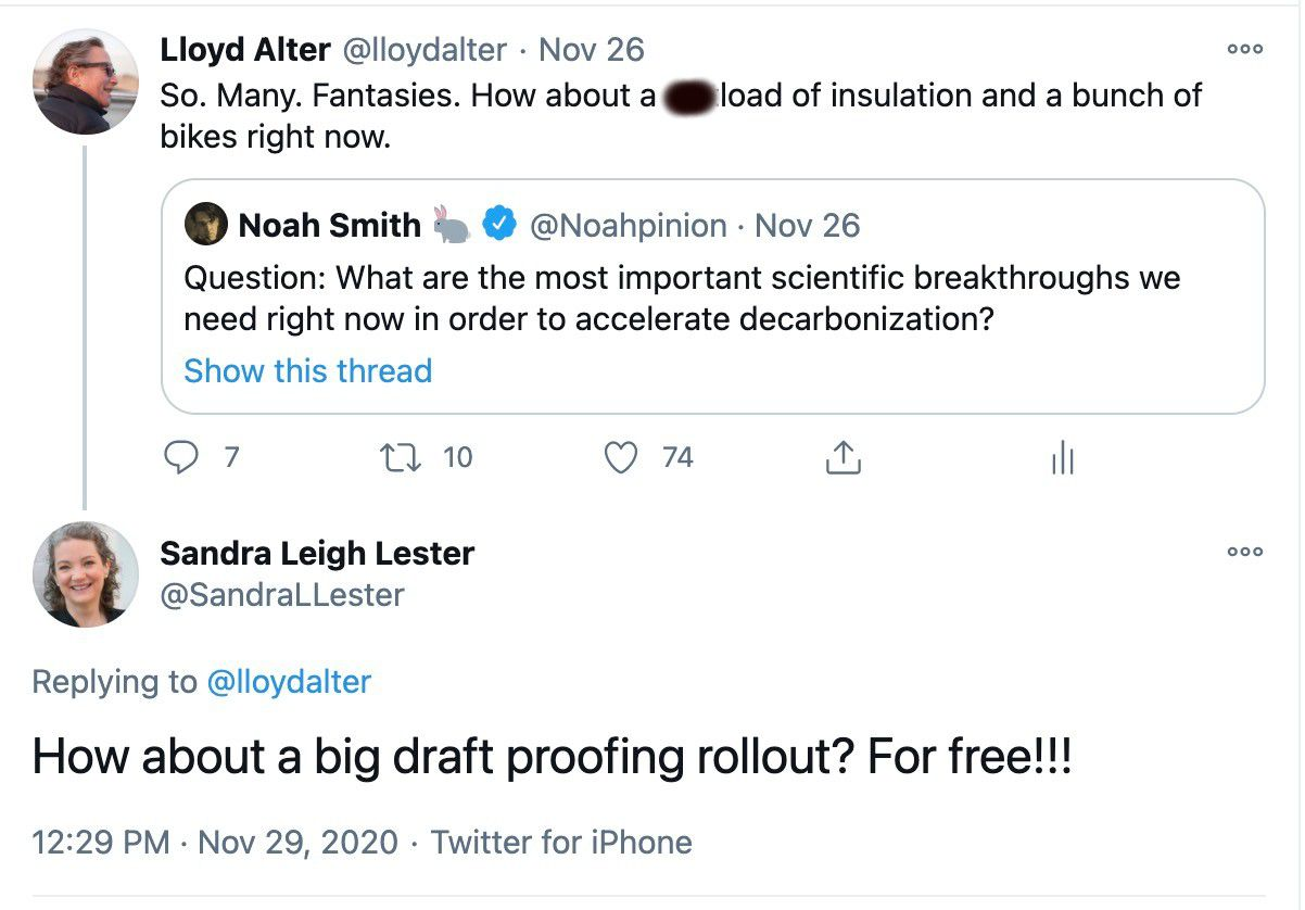 tweet discussion about draft proofing