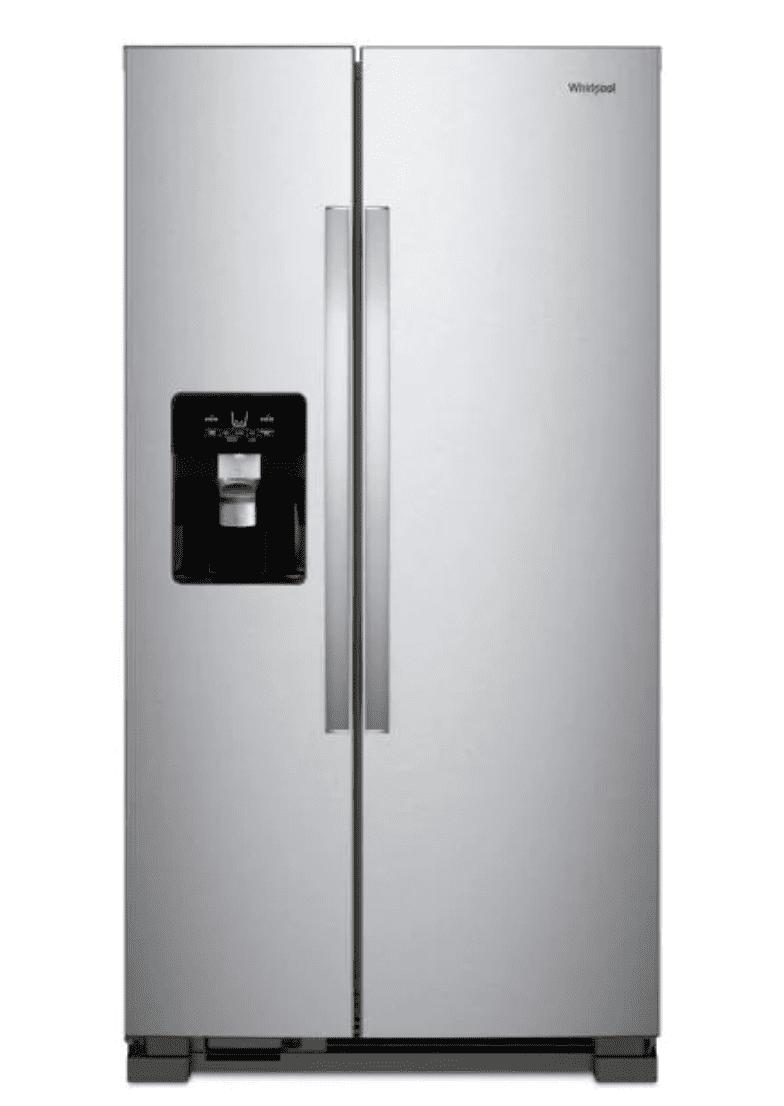 Whirlpool 21 cu. ft. Side by Side Refrigerator in Monochromatic Stainless Steel