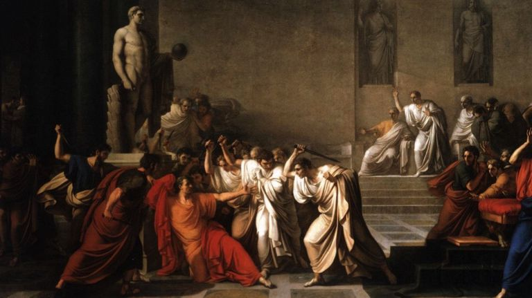 Painting depicting the Ides of March