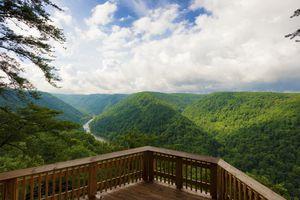 New River Gorge National Park Observation Deck View
