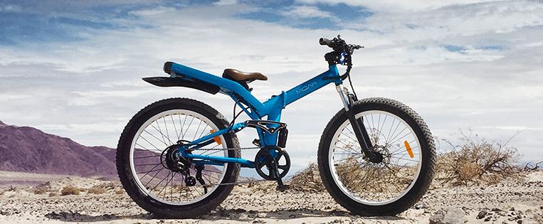 Obtenga MOAR de esta bicicleta eléctrica plegable con neumáticos anchos de 85 millas de alcance