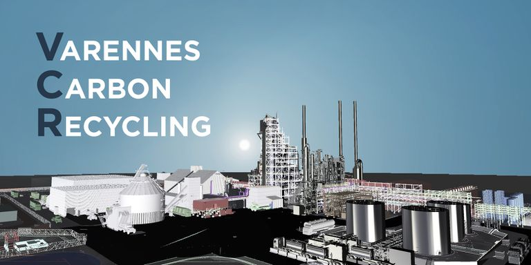 Carbon recycling biofuel plant